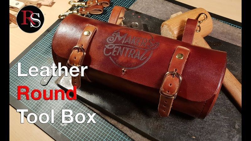 полезнокожевникамLeather Round Tool Box / Round Leather Saddlebag for the Spirit of Collaboration