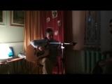Олеся Гамидова (гитара, вокал) и Леонид Панфиловский (бонго) на Библионочи 2018 НБРК