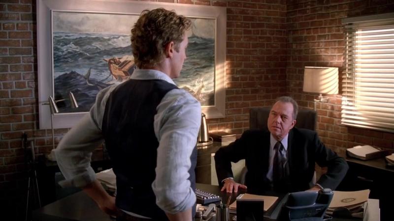 Менталист 1x11 – Минелли и Джейн спорят по поводу дела Ренфрю