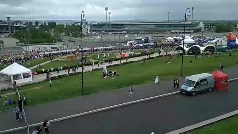 3 минуты до старта казанского марафона