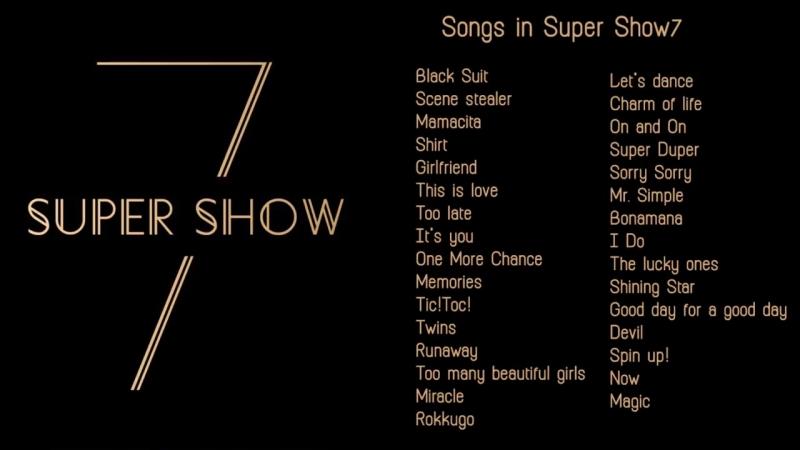 SUPER JUNIOR - SUPER SHOW 7 _ SONG LIST