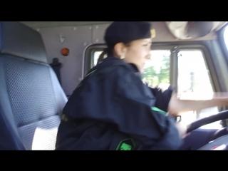 #Видео тренировки первой в истории АрМИ женской команды, участвующей в конкурсе «Мастера автобронетанковой техники-2018»