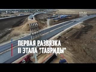 Первая развязка II этапа трассы Таврида в Крыму