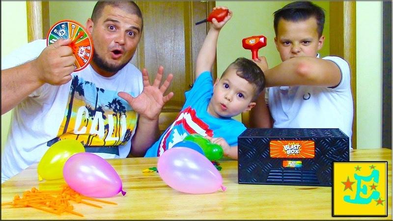 BLAST BOX CHALLENGE CHALLENGE ЧЕЛЛУНДЖ ЛоПни ШаРиК Внутри КоРоБки видео для Детей
