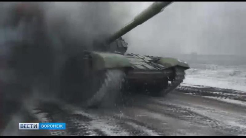 Танковый биатлон под Воронежем.