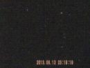 Ночное небо в ИК диапазоне в конце Галактика Андромеды