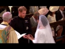 The Archbishop leads the vows and the giving of the rings RoyalWedding