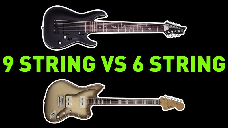 9 String Guitar Vs Down Tuned 6 String Baritone Guitar