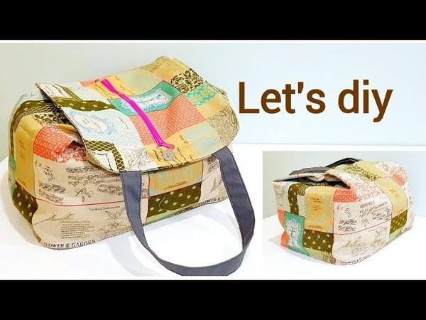 Diy large capacity travel bag /Shopping bag 【超级无敌大容量旅行包/购物包教学分享】❤❤