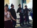 Казаки встречают корейских болельщиков в аэропорту Платов