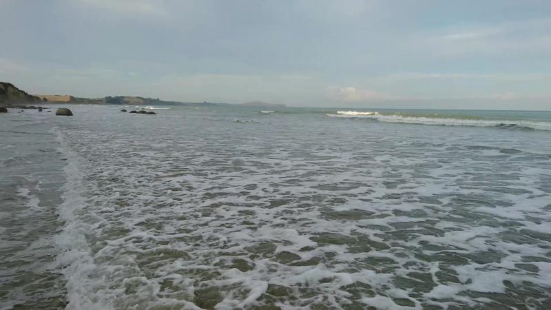 Тихий океан, Южный остров Новой Зеландии, пляж Моераки