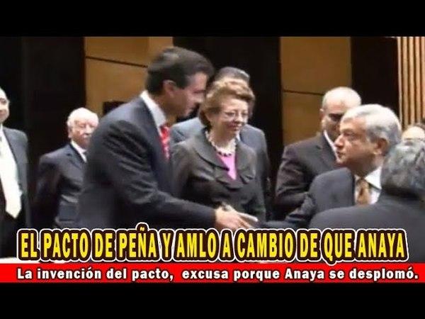 Invención del pacto Peña AMLO es una excusa porque Ricardo Anaya se desplomó Va en caída libre