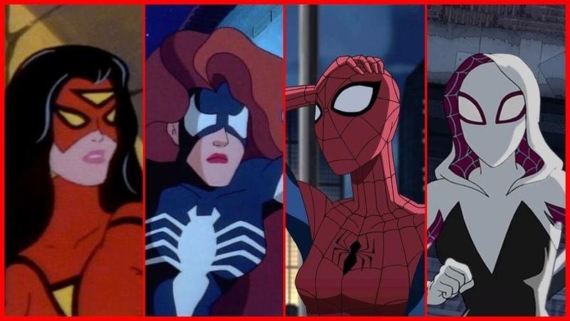 Spider-WomanSpider-GwenSpider-Girl Evolution in Cartoons TV (2018)