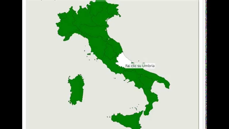 Pillole di Geografia - Le Regioni dItalia - Mappa