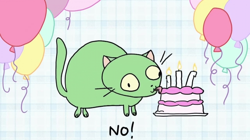 Theres A Cat Licking Your Birthday Cake.mp4