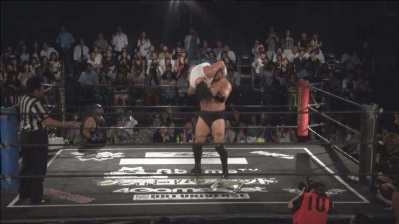 Sasaki Ishikawa Endo Paulie Takao vs Shimatani Ohka Takanashi Hiroshi CHANGO DDT Fighting Beer Garden 2018