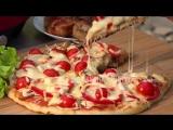 Пицца Майская с копченой на гриле курочкой. Как приготовить пиццу на мангале.