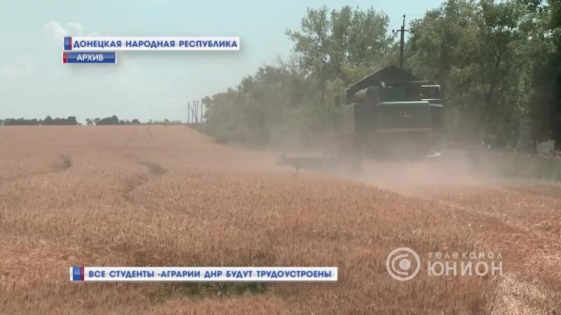 Все студенты-аграрии ДНР будут трудоустроены.