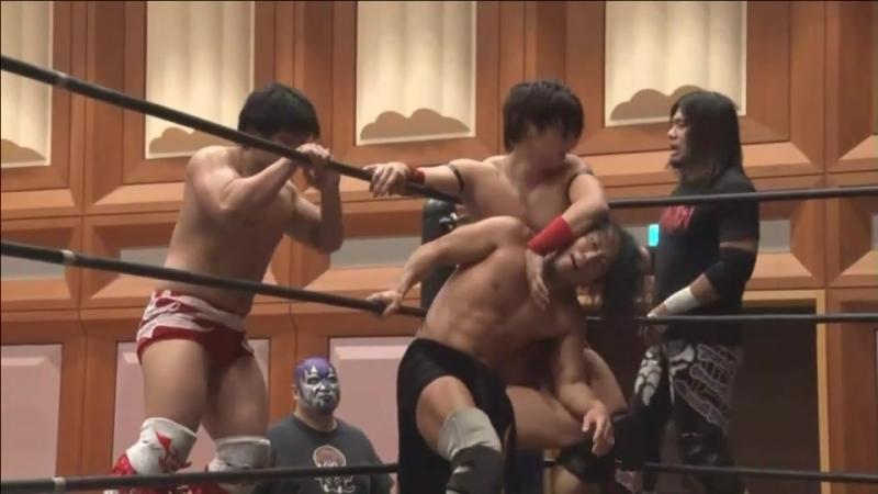 Daisuke Sasaki, Soma Takao, Nobuhiro Shimatani vs. KUDO, Masahiro Takanashi, Yukio Sakaguchi (DDT - Dramatic Mood Seijo 2018)