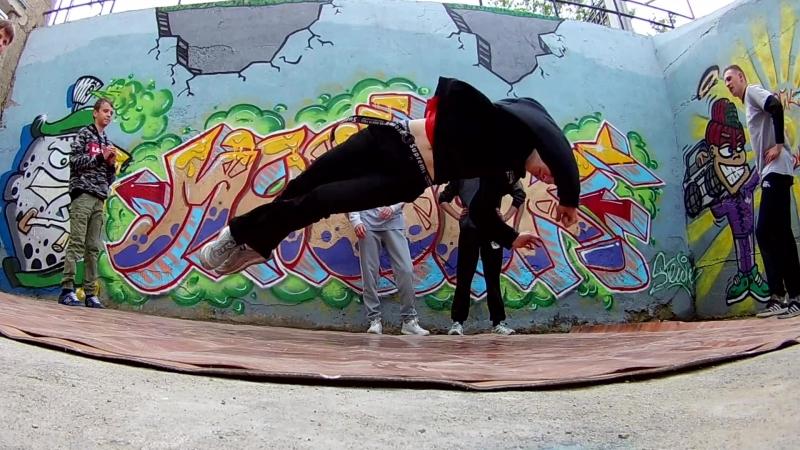 Street dance - bboy and bgirl