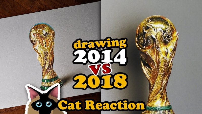 RECREATING MY WORLD CUP DRAWING (2014 vs 2018)