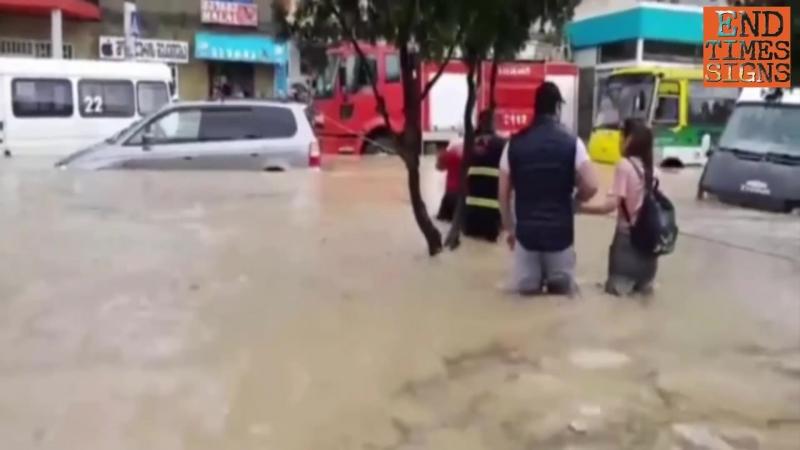 Flooded as a result of heavy rain - Georgia, Rustavi