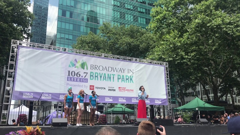 Katharine McPhee Sings What Baking Can Do at Broadway in Bryant Park!