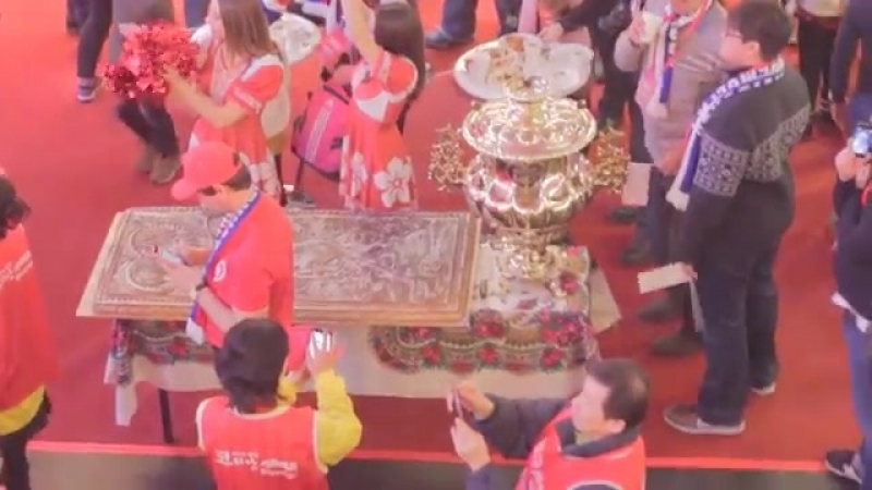 Наши пряники и самовар - на олимпиаде в Корее