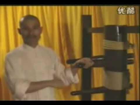 Вин Чунь - работа на манекене . Wang Wing Chun Wooden Dummy Huang Nian Yi