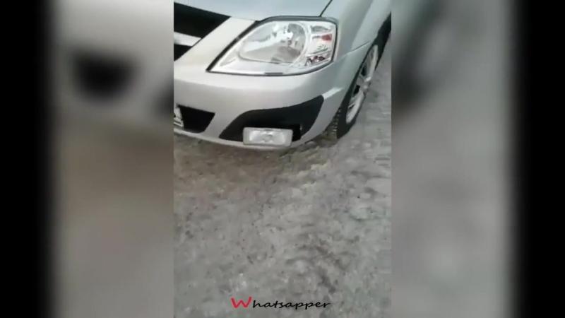 Новый радар в бампере авто.mp4