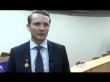 Интервью Маркелова В.В. для СМИ по поводу награждения медалью