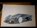 Процесс рисования Lamborghini Terzo Millennino часть 2
