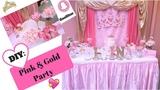 Pink and Gold Princess Party DIY