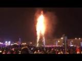 В Южно-Сахалинске подожгли ёлку.