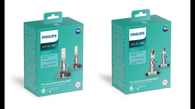 Тест и Видео обзор новинки от PHILIPS, светодиодные лампы ULTINON LED H4 H7 H8 H11 H16