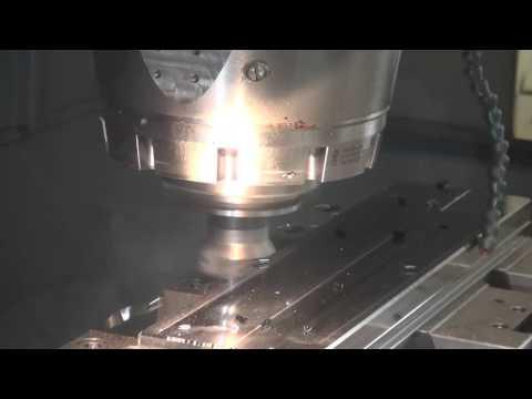 Тиски станочные вторая сторона Пример фрезерной обработки