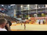 Полина Шматко - булавы (опробование) // Чемпионат Европы 2018, Гвадалахара