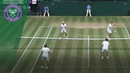 Seeing double at the doubles?! Two balls in play in crazy doubles clash! | Wimbledon 2018