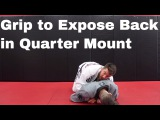 Use this Wrestling Grip for Quarter Mount Control