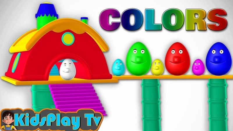 Learn Colors With Surprise Eggs - 3D Home - Cartoons For Children Toddlers And Kids - Kids Play Tv
