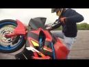 Stunt Honda CBR f4i и Yamaha raptor 700