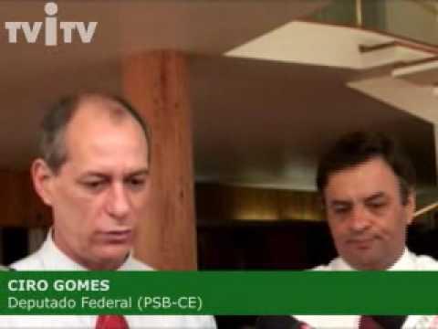 Aécio Neves se reúne com o deputado federal Ciro Gomes