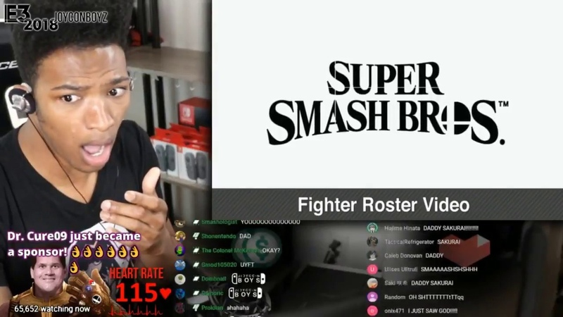 Etika Reacts to the Super Smash Bros. Ultimate Roster Reveal [Etika Stream Highlight]