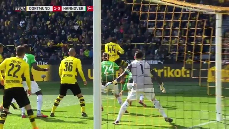 Гол Миши Батшуайи 1:0 | «Боруссия» Дортмунд 1:0 «Ганновер» | 18.03.2018 | vk.com/CFCRussia
