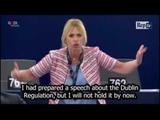 Aquarius MEP Alessandra Mussolini defends Italy before the European Parliament
