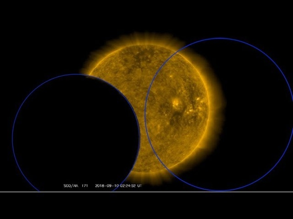Two Objects Eclipse Sun on SDO Satellite on 9th Part 1