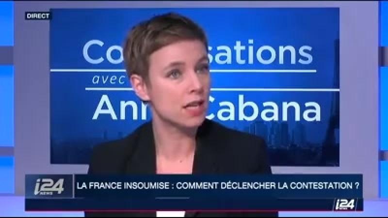 Clémentine Autain députée de la France Insoumise était l'invitée mercredi de la chaîne i24NEWS