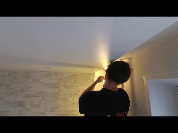 🔧 Ниша под штору в натяжном потолке