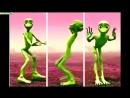 Инопланетянин танцует Танцующий зелёный человечек mp4