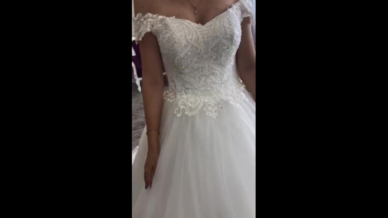 Пышное свадебное платье со шлейфом, коллекция 2019 года 💖 доставка в любой город!